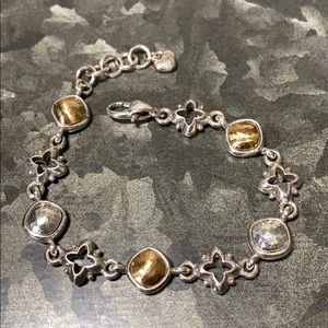 Brighton Cathedral Silver Brushed Gold Bracelet